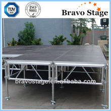 Aluminum plywood portable stage, mobile stage for shows