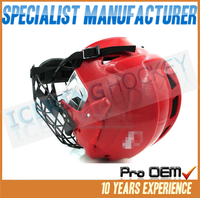 Senior/Junior best protection hockey helmet with black/silver mask/Safety Helmet