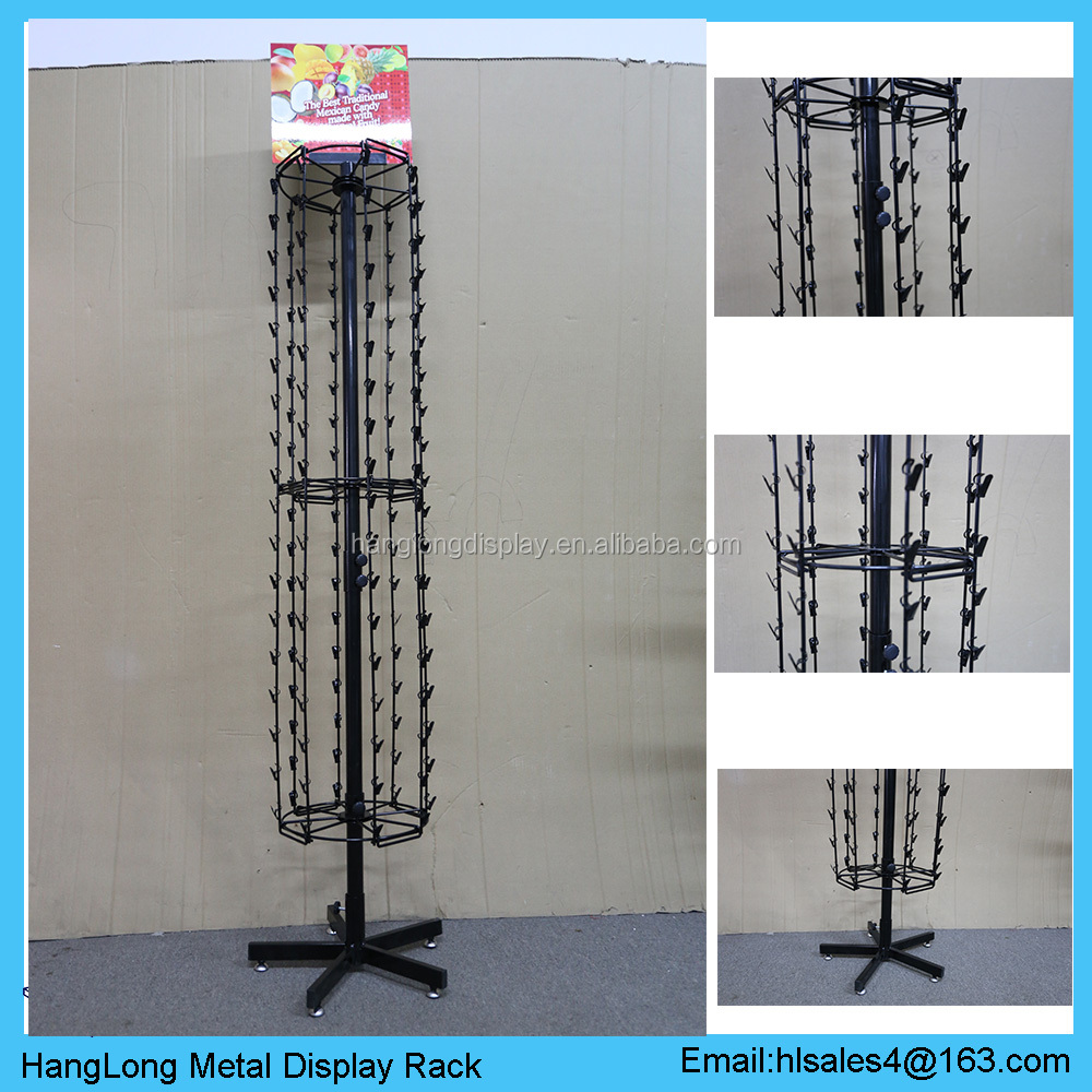 OEM metal hanging wire mobile phone accessories display rack with advertising