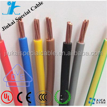CE Standard Approved PVC Insulated Soft Bendable Single core copper cable wire H05V-K