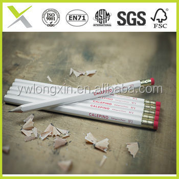 good cheap yiwu factory wooden pencil with eraser
