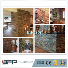 Staggered Type and Stacked Ledge Stone for Interior and Exterior Wall Cladding