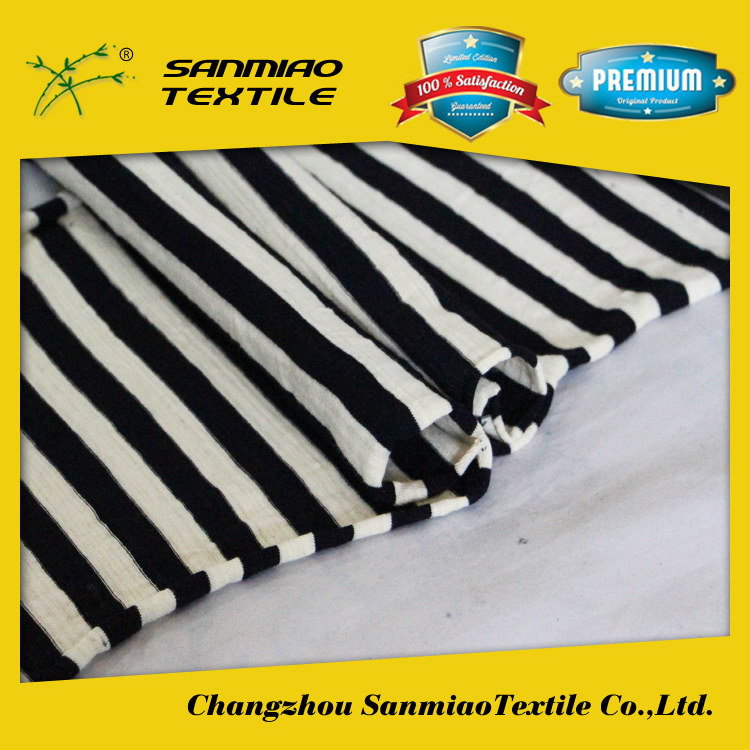 SANMIAO Brand high quality low price yarn dyed blue and white stripe fabric SBWHCP-165