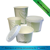 food grade disposable paper cups paper noodle pasta bowls with lid