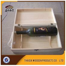 Over 10 Year's History Of Wooden Production Special Design Printed 2 bottle Wine Box Package