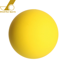 Customized Brand Logo Yellow Sport Fitness Rubber Squash Ball
