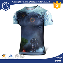 Unique design breathability short sleeve man 3D sublimation custom made t-shirts