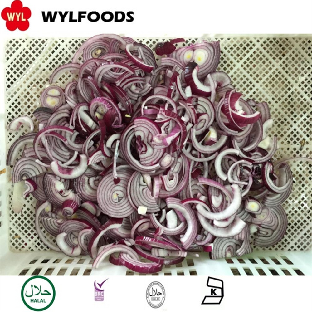 Best Price IQF Frozen Red Onions sliced