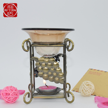 Wrought Iron Aromatherapy Candle Oil Burner Warmer Diffuser Lamps