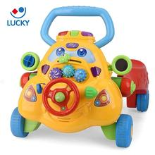 New model safety plastic three wheel car shape cheap baby walker