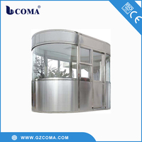 Stainless steel outdoor security guard house prefabricated portable booth