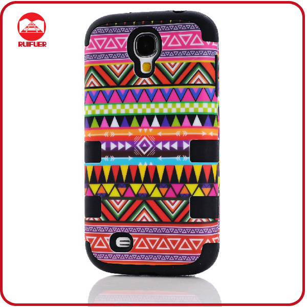New Stylish National Combo Hybird Soft Rubber Hard PC Defender Case for Samsung Galaxy S4 I9500