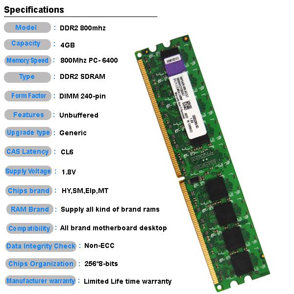 Ram Price >> Tested Best Price Ram Memory 2x4gb 8gb Ddr2 Pc2 6400 800mhz 240