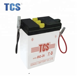 6v4ah dry charged cinventional lead acid battery for 3 wheel motorcycle