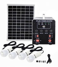 Portable Home Use 20W Solar Lighting System Kit with lamp,Audio Player