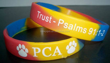 2015Mix colors silicone bracelets/silicone wristbands with your own logo for gift