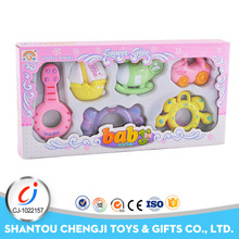 Eco friendly baby rattle toys plastic shantou chenghai toy factory