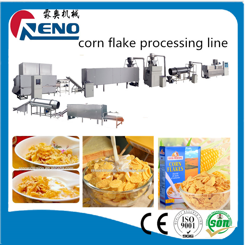 Chocolate curved cup corn flakes manufacturing extruder machine production line