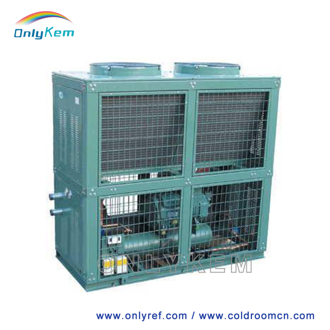 High efficiency condensing unit for tropical climate