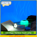 magic LED rainbow lamp emergency light with flashlight