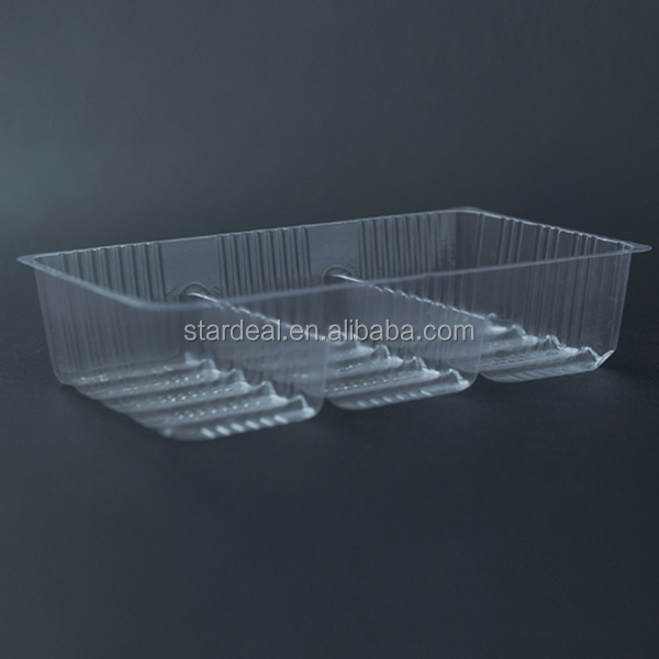 china suppliers customized secure bread tray snack pack disposable packaging plastic food blister