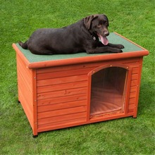 Factory direct wholesale outdoor indoor Flat and waterproof roof custom wooden dog house