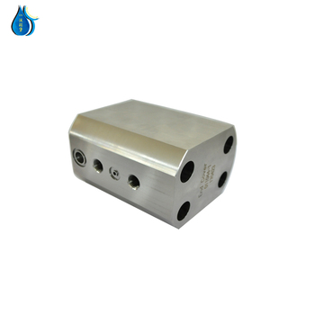 WP factory price water jet cutter parts end cap for direct drive pump