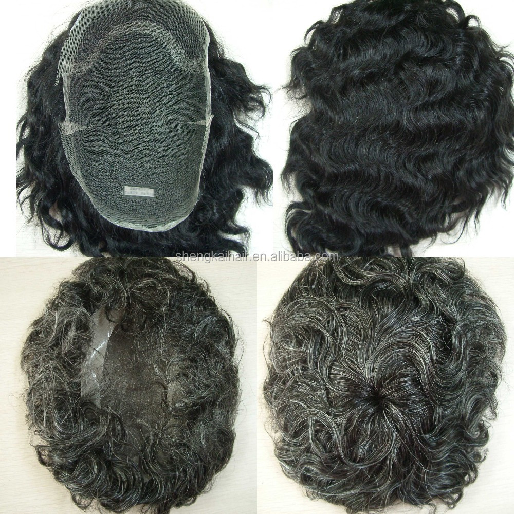 human hair swiss lace toupee