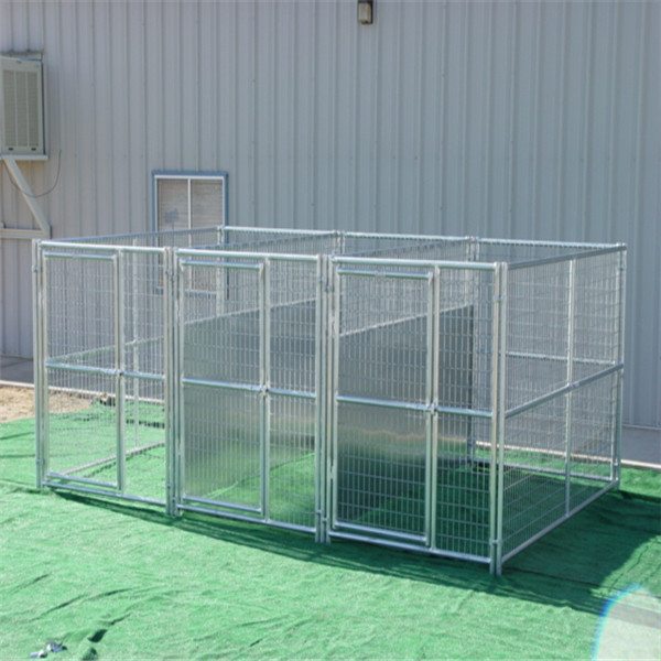 Factory Made Galvanized Steel Tube Dog Kennel Fence Panel