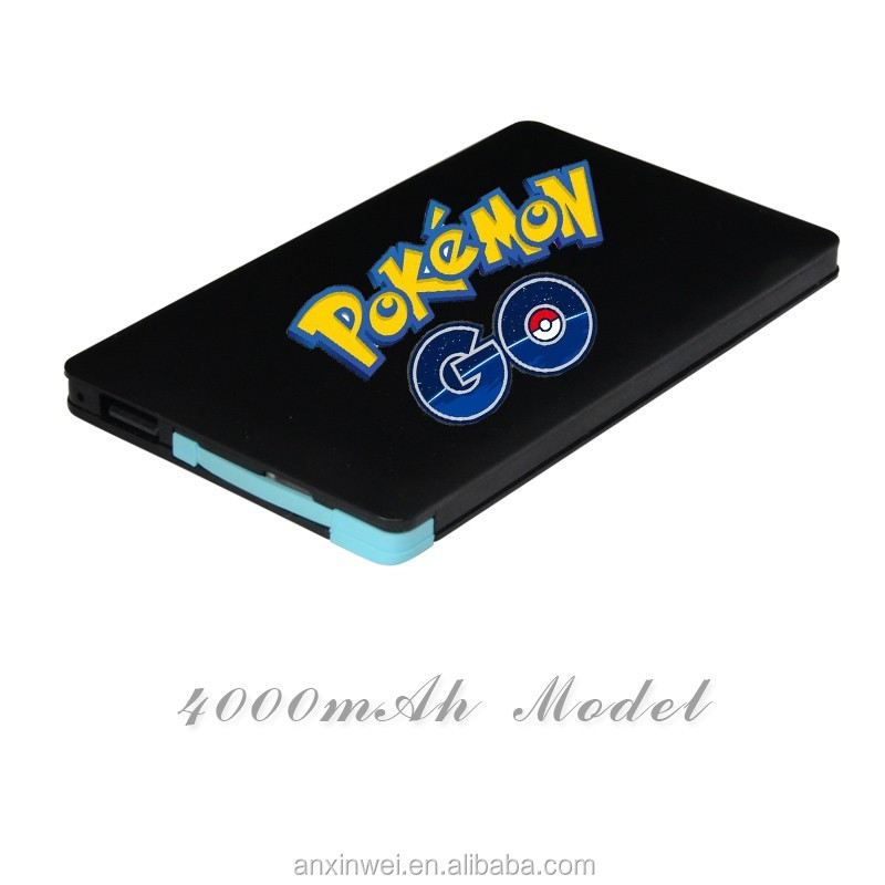 Pokemon power bank promotion gift product fashion 2500mah 4000mah