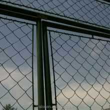High quality green pvc coated chain link fence , palisade fencing
