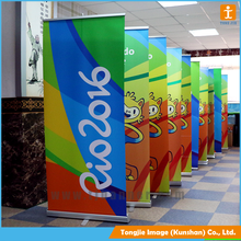 Advertising tarpaulin stand, roll up stand banner