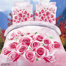hot sale newest design velvet bed sheet with rose pattern