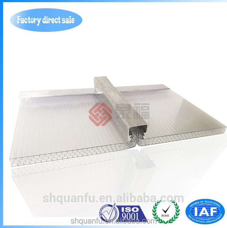 hollow pc sheet Transparent high impact ten-year warranty
