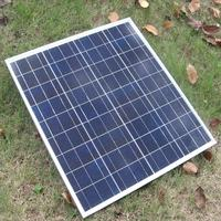 Small poly Crystalline Silicon Photo Voltaic Solar Cells 75w poly mini solar panels