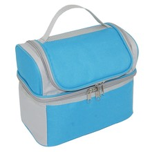 Aluminium foil cooler bag food container 2 compartment insulated lunch bag
