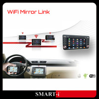 Wifi mirror link establish real-time screen sharing between smartphone and DVD player