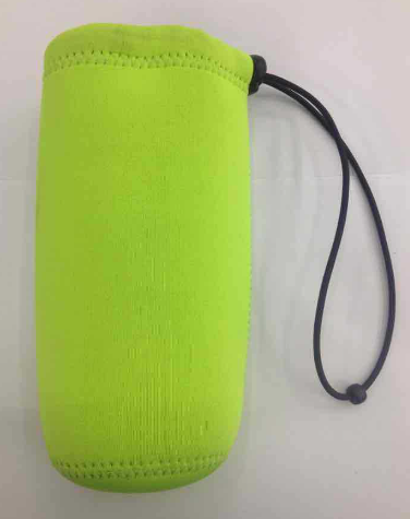 Promotion green neoprene water bottle sleeve