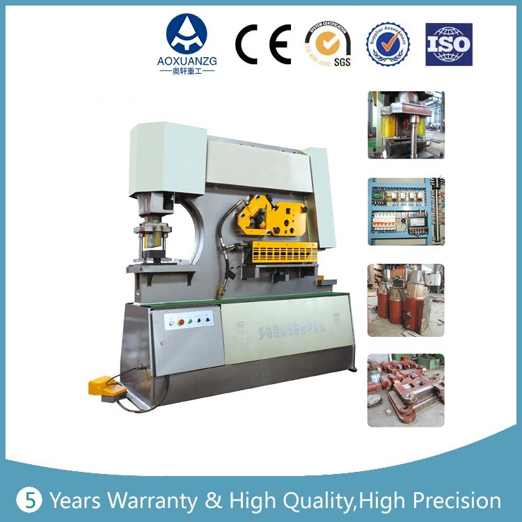 Q35Y type combined punching and shearing machine , punching cutting motching Hydraulic Iron Worker , steel ironworker