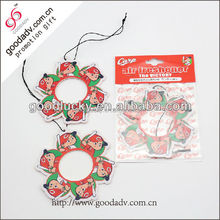 2016 best sell paper air freshener /car fragrance paper card for car and home