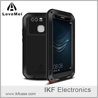 Genuine Original Love Mei Extreme Powerful Life Waterproof Shockproof Metal Aluminum Case for Huawei P9 +Gorilla Glass