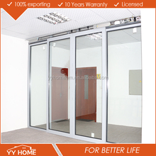 YY Home aluminum automatic sliding glass door for commercial