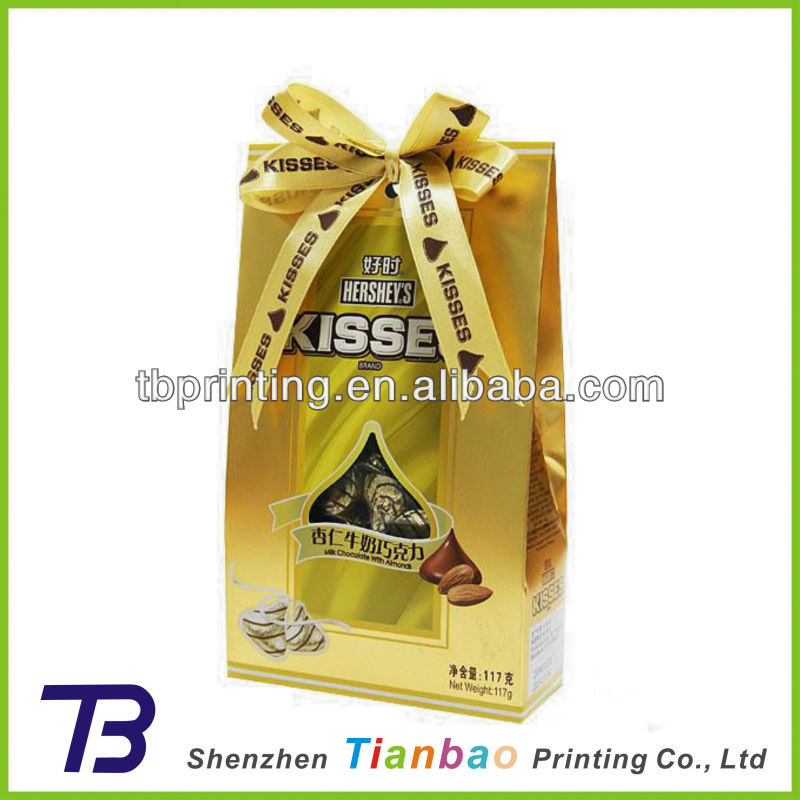 Shinny! Small gold card paper gift bags/candy pape bag