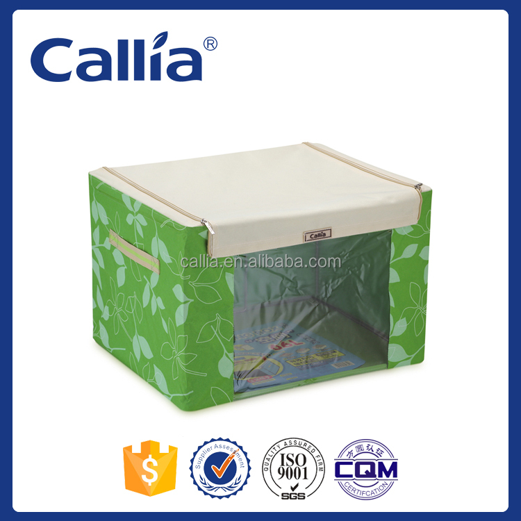 Callia fabric storage box with PVC window folding living box