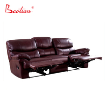 Baotian Furniture classic leather sofa recliner
