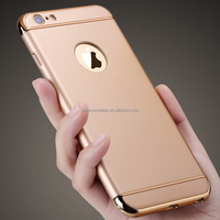 (Factory) Hot Popular Detachable 3 in1 electroplating PC hard plastic back Mobile Phone Case cover for iphone5 5s 6 6s