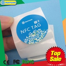 Printable nfc tag and label factory in roll or by piece