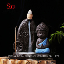 Creative Home Decor Smoke Backflow Small Buddha Incense Burner