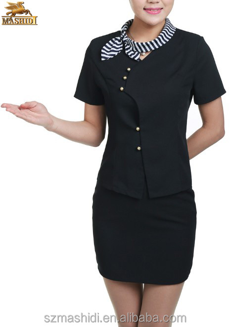 2014 popular elegant latest design office uniform for ladies