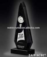 Noble New Design Polished Black Crystal with Clock